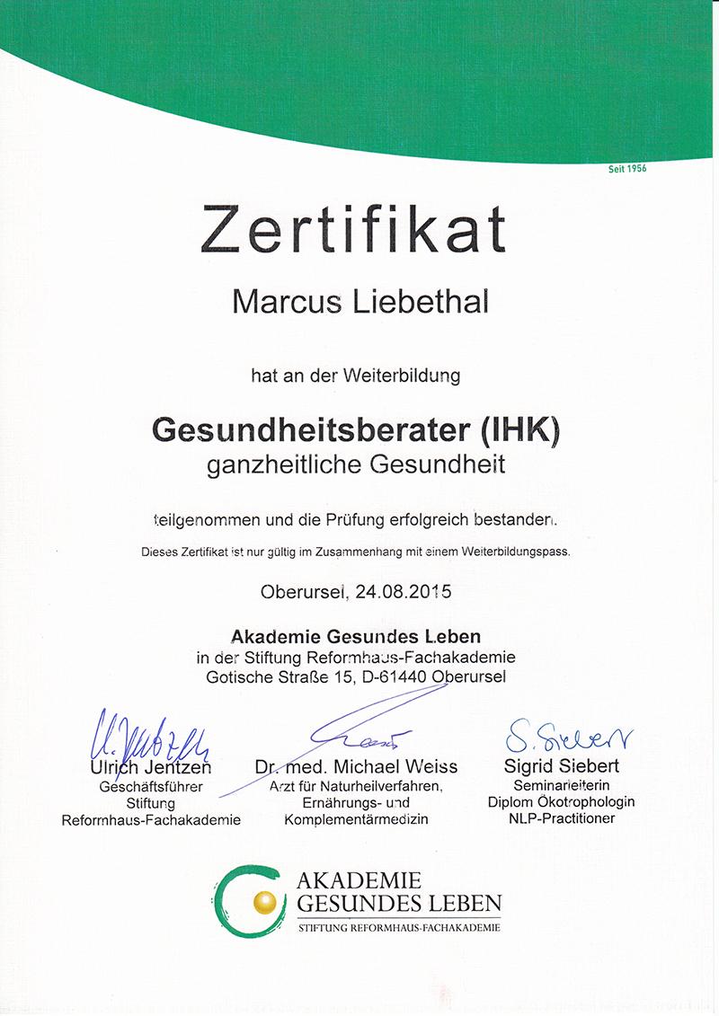 Gesundheitsberatung – # Marcus Liebethal